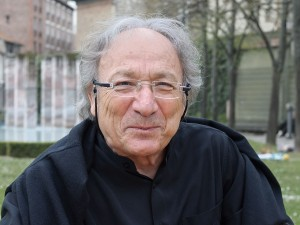 Ernest Pignon-Ernest, à la Maison des Arts de Malakoff (Hauts-de-Seine, France), en mars 2014 (Photo: Myrabella / Wikimedia Commons / CC-BY-SA-4.0).